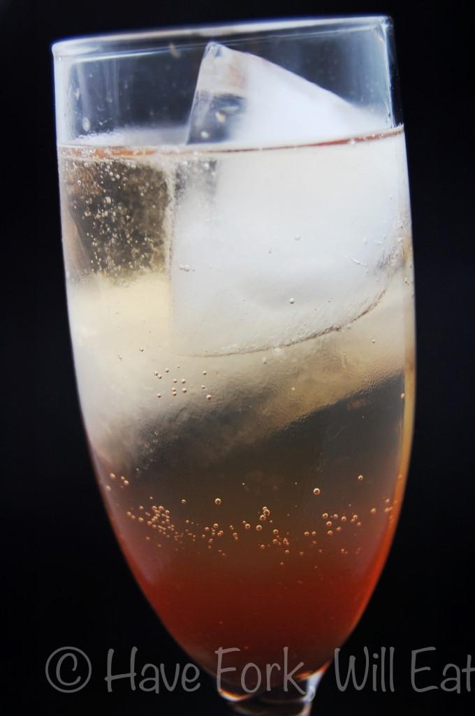 Grand Marnier, bitters, grenadine, champagne